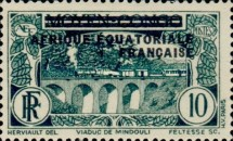 [Postage Stamps from Middle Congo Overprinted, type B4]