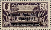 [Postage Stamps from Middle Congo Overprinted, type B9]