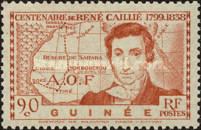 [The 100th Anniversary of the Death of Rene Caille, 1799-1838, Typ AB]