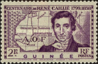 [The 100th Anniversary of the Death of Rene Caille, 1799-1838, Typ AB1]