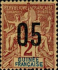 [Issue of 1892 Surcharged - Distance between 0 & 5 or 10: 2½ mm. Type A - Distance between 0 & 5: 2 mm and Distance between 1 & 0: 3 mm, Typ F]