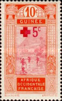 [Red Cross - No. 67 Surcharged, Typ I]