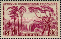 [Definitive Issues - Waterfall Landscape, type Y4]