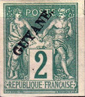 "[French Colonies - General Issues Overprinted ""GUYANE"", type E1]"
