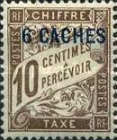 [French Postage Due Stamps Surcharged, Typ A]