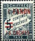 [Not Issued French Postage Due Stamps Surcharged, Typ B2]