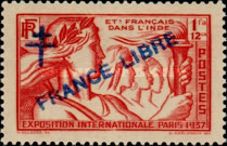 [World Expo Paris Stamps of 1937 Overprinted