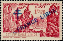 [World Expo, New York Stamps of 1939 Overprinted with Cross of Lorraine &