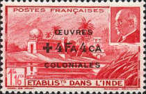 [Marshall Petain Stamps of 1941 Overprinted