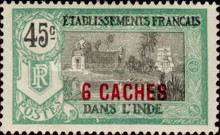 [Pondicherry Temple Stamps of 1914 & 1922 and Not Issued Stamps Surcharged, Typ N5]