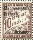 [French Postage Due Stamps Overprinted, Typ A1]