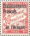 [French Postage Due Stamps Overprinted, type A3]