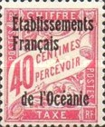 [French Postage Due Stamps Overprinted, Typ A4]
