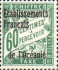 [French Postage Due Stamps Overprinted, Typ A5]