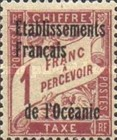 [French Postage Due Stamps Overprinted, Typ A6]