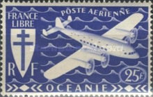 [Airmail - Free France, Typ AW4]
