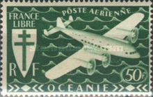 [Airmail - Free France, Typ AW5]