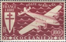 [Airmail - Free France, Typ AW6]
