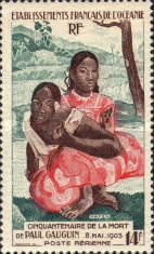 [Airmail - The 50th Anniversary of the Death of Paul Gauguin, 1848-1903, type BX]