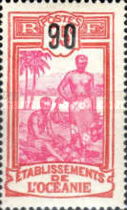 [Number 36 and 37 and Not Issued Stamps Surcharged, Typ C18]