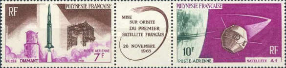 [Airmail - First French Satellite in Space, Typ ]
