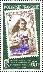 [The 50th Anniversary of the First Stamp issue in French Polynesia, Typ AMG]