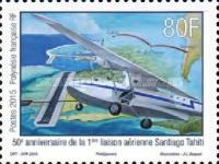[The 50th Anniversary of the First Flight Connection Tahiti-Santiago, Typ AVC]