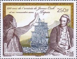 [The 250th Anniversary of the Arrival of James Cook, 1728-1779, type AZQ]