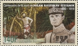 [The 100th Anniversary of the Death of Milan Rastislav Štefánik, 1880-1919, type BAB]