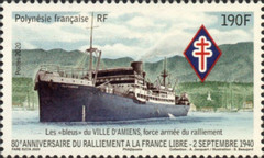 [The 80th Anniversary of French Polynesia Rally to Free France, type BAX]