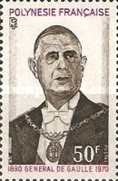 [The 1st Anniversary of the Death of Charles de Gaulle, 1890-1970, Typ EG]