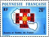 [The 2nd Anniversary of the Rally of French Boy Scouts and Girl Guides - Tarvao, French Polynesia, Typ EM]