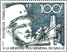 [Airmail - The 2nd Anniversary of the Death of Charles de Gaulle, 1890-1970, Typ ET]