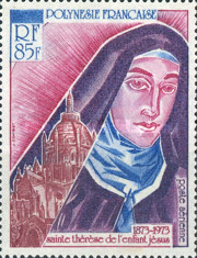 [Airmail - The 100th Anniversary of the Birth of Saint Teresa of Lisieux, 1873-1897, Typ EZ]