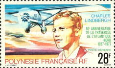 [Airmail - The 50th Anniversary of Charles Lindbergh's Trans-Atlantic Flying to New York - Paris, Typ HX]