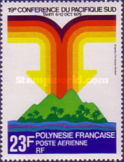 [Airmail - The 19th Anniversary of the South Pacific Conference, Tahiti, Typ JU]