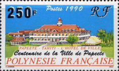 [The 100th Anniversary of the Township of Papeete, type TU]