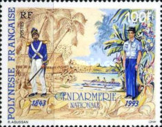 [The 150th Anniversary of the Arrival of the First Gendarme in Tahiti, Typ WY]