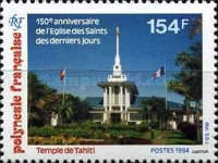 [The 150th Anniversary of the Arrival in Polynesia of the Church of Jesus Christ of Latter Day Saints, Typ XK]