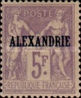 "[French Postage Stamps Overprinted ""ALEXANDRIE"" - Colored Paper, type A17]"