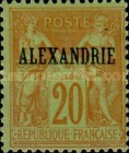 "[French Postage Stamps Overprinted ""ALEXANDRIE"" - Colored Paper, type A9]"