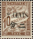 [French Postage Due Stamps Surcharged New Values, Typ D5]
