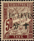 [French Postage Due Stamps Surcharged New Values, Typ D7]
