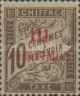 [French Postage Due Stamps Surcharged, type A2]