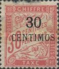 [French Postage Due Stamps Surcharged, type A3]