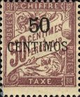 [French Postage Due Stamps Surcharged, type A4]