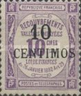 [French Postage Due Stamps Surcharged, type B1]