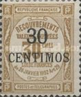 [French Postage Due Stamps Surcharged, type B2]