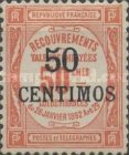 [French Postage Due Stamps Surcharged, type B3]