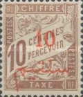 [French Postage Due Stamps Surcharged, type C1]